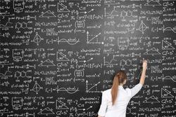 Albert einstein algebra background blackboard board business