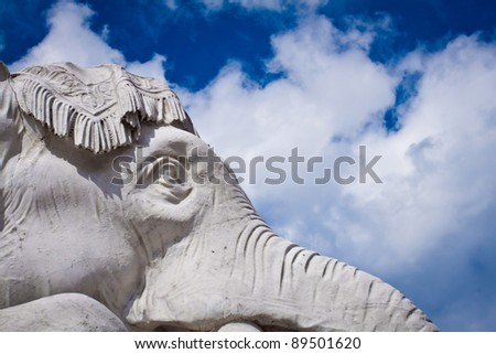 Albert Memorial in Hyde Park, Kensington, London: detail of the statue group representing the continent of Asia, close-up on the elephant.