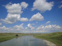 Alberta. Oldman River between Lethbridge and Fort Macleo