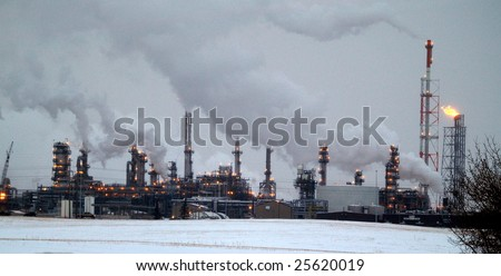 Alberta petrochemical refineries on the east side of Edmonton are some of the most modern & largest in the world and bullt to handle oil sands products