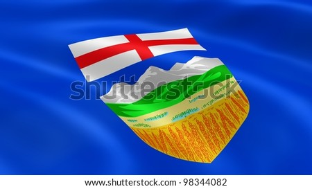 Albertan flag in the wind. Part of a series.