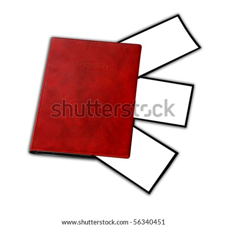 album for photo pictures isolated on white background