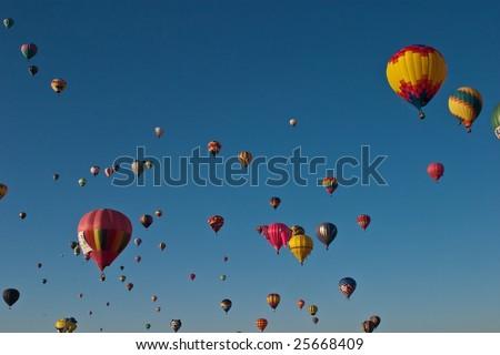Albuquerque International Balloon Fiesta is a yearly balloon fiesta that takes place in Albuquerque, New Mexico, USA during early October.