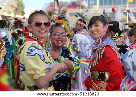 ALBUQUERQUE, NEW MEXICO-APRIL 24:  The Gathering of Nations is the largest Indian Pow Wow in North America, and it took place at the University of New Mexico on April 24, 2010 in Albuquerque.