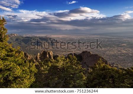 Albuquerque, New Mexico from the Sandia Mountain Crest