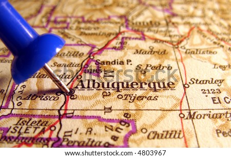 Albuquerque, New Mexico, the way we looked at it in 1949 - stock photo