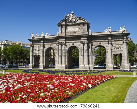 Alcala Gate in Independence Square, Madrid