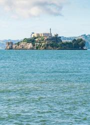 Alcatraz Island  at sunny day,  san francisco,California,usa.