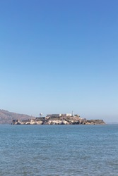 Alcatraz Island photographed from San Francisco in the day, San Francisco, California, United States of America