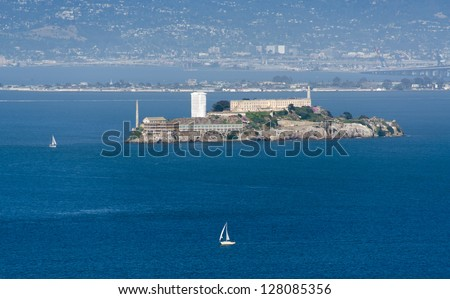 Alcatraz prison in San Francisco, California - stock photo