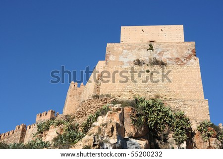 Alcazaba - Old Moorish Castle On A Hill In Almeria, Andalusia, Spain. 스톡 사진 5...