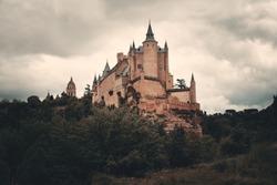 Alcazar of Segovia as the famous landmark in Spain.