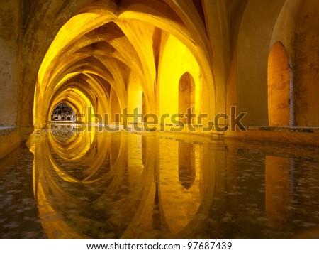 Alcazar Queen's bath, Seville , Andalucia, Spain