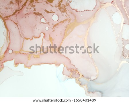 Alcohol Abstract. Trendy Acrylic Dirty Painting. Alcohol Ink Creative Art. Abstract Ethereal Paint Texture. Vibrant Pastel Fabric. Artistic Wallpaper. Magic Fantasy Modern Style.