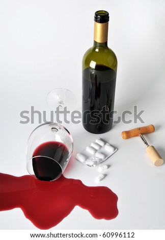 alcohol and pills Stock foto ©