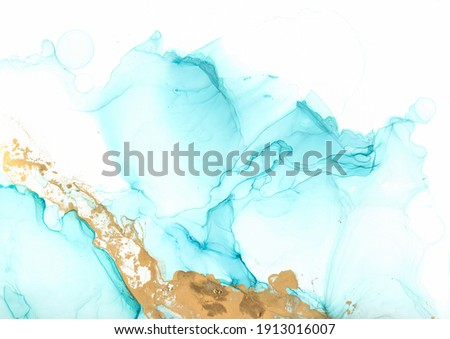 Alcohol Ink. White Abstract Background. Ethereal Oil Paper. Vibrant Fluid Texture. Acrylic Ink Mix. Modern Flow Art Effect. Bright Liquid Illustration. Marble Print. Acrylic Ink Mix. Photo stock ©