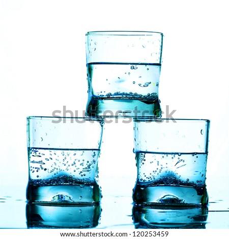 alcohol splash macro close up