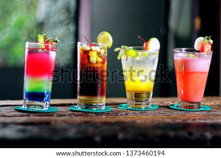 Alcoholic beverages bar beverages #1373460194