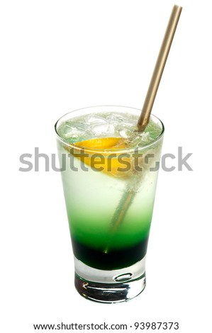 Alcoholic cocktail  isolated on white background