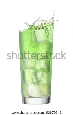 Alcoholic cocktail Splash isolated. Clipping path included. More beverages available