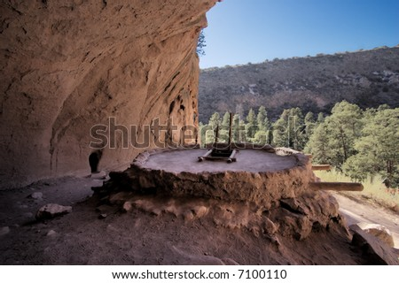 Alcove House at Bandelier National Monument in New Mexico near Santa Fe