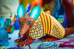 Alebrije, trancelate; Mexical art craft in Oaxaca