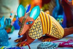 Alebrije, trancelate; Mexical art craft in Oaxaca