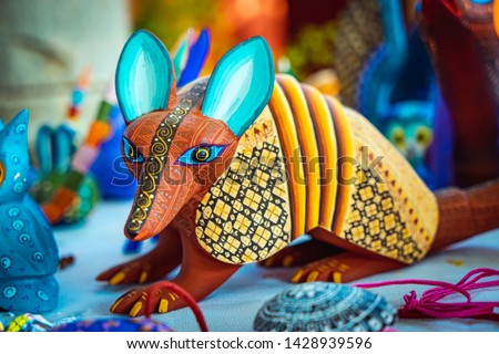 Alebrije, trancelate; Mexical art craft in Oaxaca Сток-фото ©