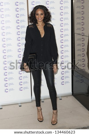 Alesha Dixon arriving at the James' Jog fundraising event for Cancer Relief, Kensington, London. 03/04/2013 Picture by: Simon Burchell