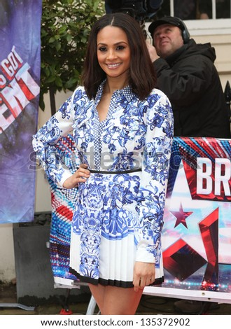 Alesha Dixon at The Britain's Got Talent Photocall, at the ICA, London. 11/04/2013 Picture by: Alexandra Glen
