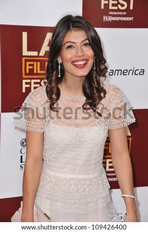 "Alessandra Mastronardi at the LA Film Festival premiere of her movie ""To Rome With Love"" at the Regal Cinemas LA Live. June 15, 2012  Los Angeles, CA Picture: Paul Smith / Featureflash"