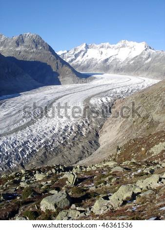 Aletsch Glacier Europe's Largest Glacier (Bernese Alps, Switzerland)
