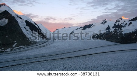 Aletsch Glacier in the Alps, Switzerland