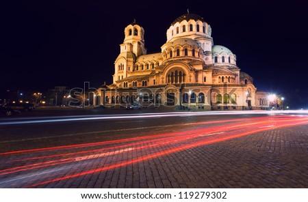 Alexander Nevski Cathedral in capital of Bulgaria Sofia