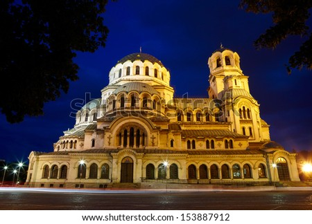 Alexander Nevski Cathedral in capital of Bulgaria - Sofia