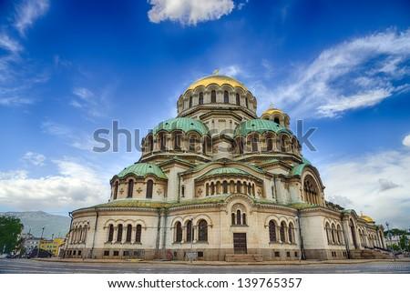 Alexander Nevski Cathedral in Sofia, Bulgaria.HDR image