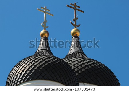 Alexander Nevsky Cathedral church in Tallinn, Estonia