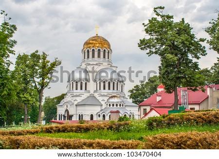 Alexander Nevsky Cathedral in Kamianets-Podilskyi, Ukraine
