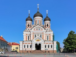Alexander Nevsky Cathedral in the Tallinn Old Town, Estonia