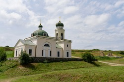 Alexander Nevsky Cathedral of 1834 is located next to the ruins of the Vilide Sultan Mosque 18th century