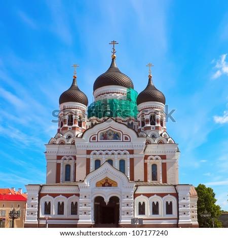 Alexander Nevsky orthodox church in Tallinn, Estonia