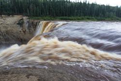 Alexandra Falls tumble 32 meters over the Hay River, Twin Falls Gorge Territorial Park Northwest territories, Canada
