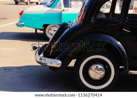 ALEXANDRIA, KIROVOGRAD REGION / Ukraine, July 14, 2018: Exhibition of retro cars. #1136270414