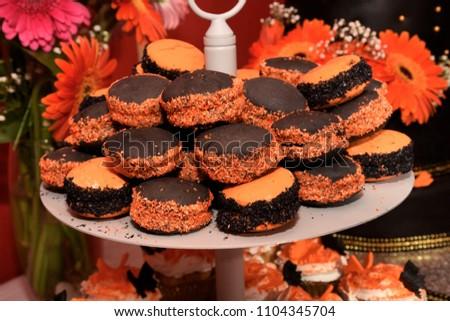 alfajor Halloween dessert #1104345704