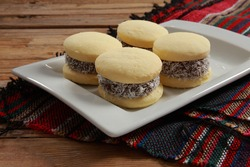 Alfajor is a traditional Spanish origin confection found in South America. It is produced in the form of a small cylinder and is sold either individually or in boxes containing several pieces.