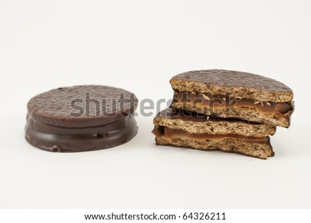 alfajor of chocolate