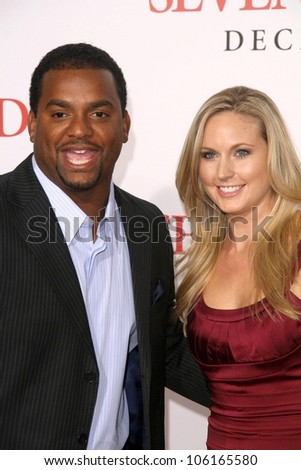 Alfonso Ribeiro and Robin Stapler   at the Los Angeles Premiere of 'Seven Pounds'. Mann Village Theatre, Westwood, CA. 12-16-08