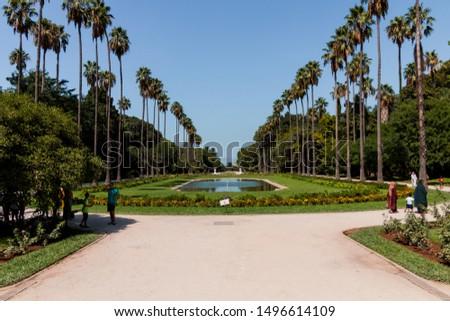 Algeria, Algiers - August 18 2019 : The Botanical Garden Hamma of algiers #1496614109