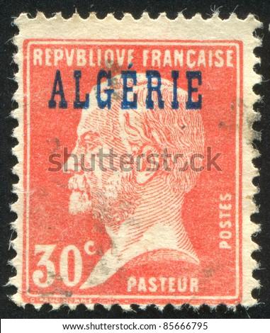 ALGERIA - CIRCA 1924: stamp printed by France, shows Louis Pasteur, circa 1924