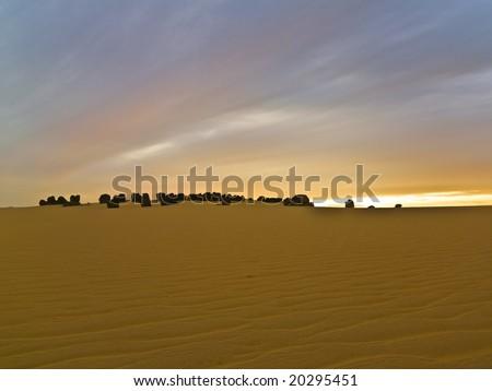Algerian desert - stock photo